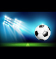 soccer ball with stadium and lighting 001 vector image vector image