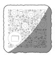 sticker monochrome pattern formed by dialogue vector image vector image