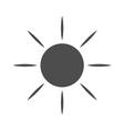Sun icon Light sunbeams Gray vector image vector image