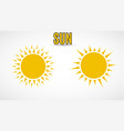 sun icon yellow color vector image vector image
