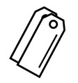 tags icon vector image