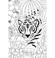 tiger outline vector image vector image