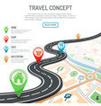 travel and navigation concept vector image vector image