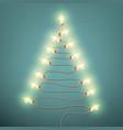 tree formed garland lights on vintage background vector image vector image