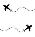 two air plane icon set black silhouette shape vector image vector image
