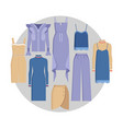 vogue clothe set color card vector image vector image