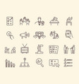 voting and election icons set vector image