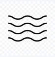 wave icon isolated on transparent background vector image