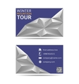 Winter tour banners vector image vector image