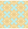 Yellow Beige Pattern on a Pastel Blue Background vector image vector image