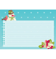 christmas background with empty blank for text vector image