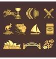 Australia Traditional Elements Set vector image