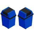 3d design for blue trashcan vector image vector image