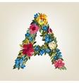 A letter Flower capital alphabet Colorful font vector image vector image