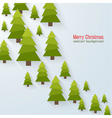 Abstract background with christmas trees vector image vector image