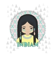 American Indians girl vector image vector image