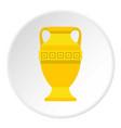 ancient gold vase icon circle vector image vector image