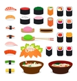 Asia food icons vector image