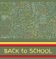 back to school abstract background with paper cut vector image vector image