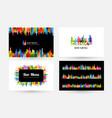 bar menu design collection horizontal poster vector image vector image