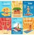 Beach poster set vector image vector image
