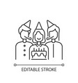 birthday party linear icon vector image