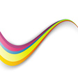 Bright rainbow colorful swoosh border wave vector image vector image