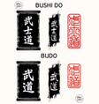 bushido budo vector image vector image
