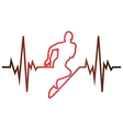 Cardiogram running vector image