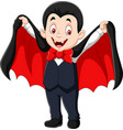 cartoon funny vampire isolated on white background vector image vector image