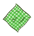Cartoon Striped Napkin vector image vector image