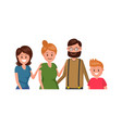 cheerful family flat poster vector image vector image