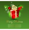 christmas box vector image