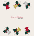 christmas gift card hand drawn sketch set vector image vector image