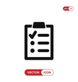 clipboard with list icon vector image vector image