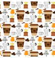 coffee cup coffeemaker seamless pattern background vector image vector image