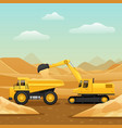 construction machinery composition vector image