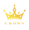 creative crown concept logo design template eps vector image