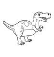 cute cartoon dinosaur tyrannosaurus character vector image vector image