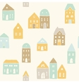 Cute houses pattern vector image vector image