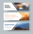 design of standard horizontal web banners with vector image vector image