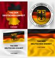 deutschen einheit banner set isometric style vector image