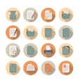 Documents Files and Folders Icons Set vector image vector image