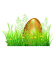 easter egg in green grass vector image vector image