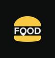 fast food location logo minimal stylized burger vector image