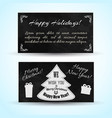 festive winter horizontal banners vector image vector image