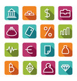 financial symbols vector image