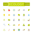 Flat Ecology Icons vector image vector image