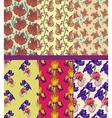 Floral background design vector image vector image