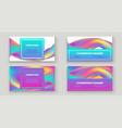 fluid shapes wavy liquid background bright neon vector image